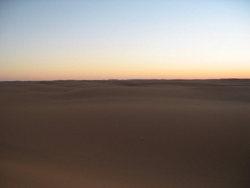 Sahara dusk